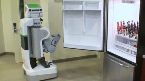 Haushaltsroboter PR2 holt Bier aus dem Kühlschrank