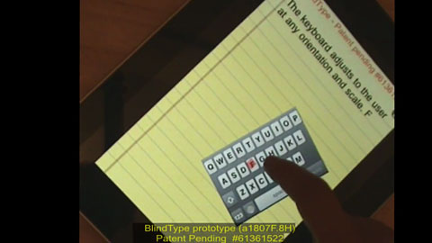 Blind Type - intelligente virtuelle Tastatur