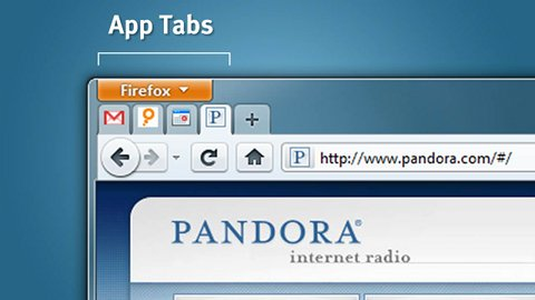 Alex Faaborg zeigt App Tabs in Firefox 4 Beta 2