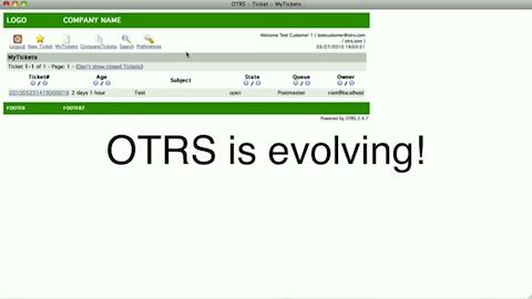 Neues Userinterface für OTRS 3