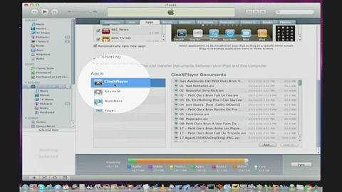 Cinexplayer - Loading Xvid Movies using iTunes