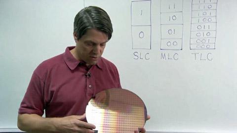 TLC-NAND - Flash-Speicherchips mit 3 Bit pro Zelle in 25-Nanometer-Technik