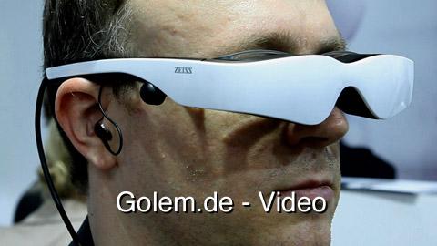 Cinemizer OLED mit Visenso-Headtracker (Prototyp) - Vorstellung auf der Ifa 2010