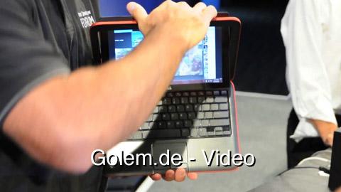 Dell Inspiron Duo vorgestellt auf dem IDF 2010