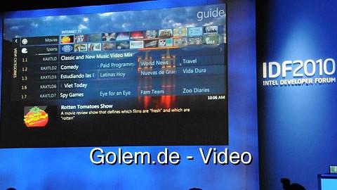 Microsoft zeigt Windows Media Center für Fernseher