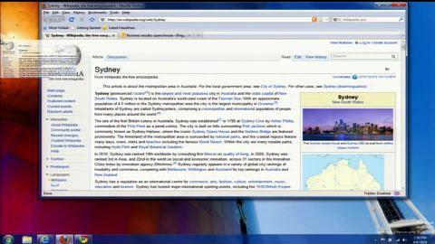 Internet Explorer 9 mit Aero Snap für Tabs