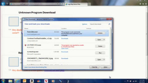 Internet Explorer 9 - Downloadmanager mit eingebauter Sicherheit