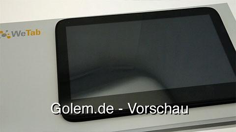 WeTab - Ersteindruck von Golem.de