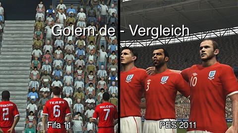 Fifa 11 (PC) und Pro Evolution Soccer 2011 (PC) - Vergleich