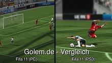 Fifa 11 (PC) und Fifa 11 (Konsole) - Vergleich