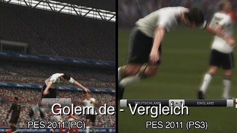 Pro Evolution Soccer 2011 (PC) und Pro Evolution Soccer 2011 (Konsole) - Vergleich