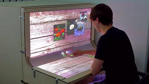 Bend Desk - Multitouch auf einem geschwungenen Display