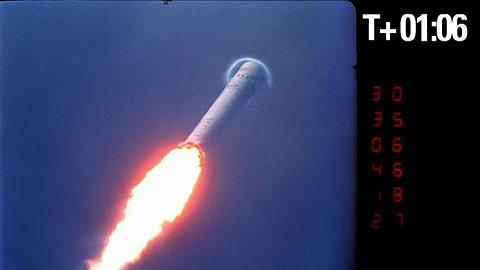 Space X - erster Flug der Falcon 9
