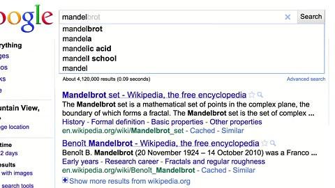 Google - Jahresrücklick in der Google-Suche