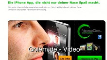 Nose Dial - das iPhone mit der Nase bedienen
