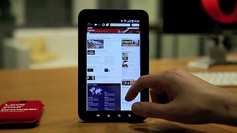 Opera auf Tablets - kurze Preview