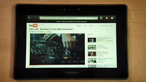 Blackberry Playbook - Multimediademo