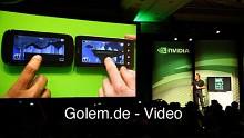 Das Superphone LG Optimus X2 mit Tegra 2 in Aktion auf der CES 2011