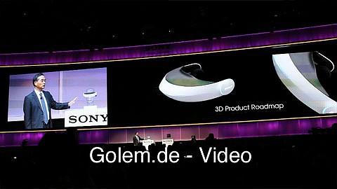 Sony zeigt neue 3D-Prototypen auf der CES 2011
