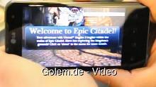 Epic Citadel, Fruit Ninja und mehr auf dem LG Optimus Speed (Optimus 2X)
