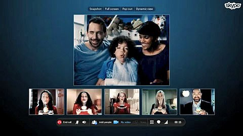 Private Gruppenvideotelefonie per Skype - Herstellervideo