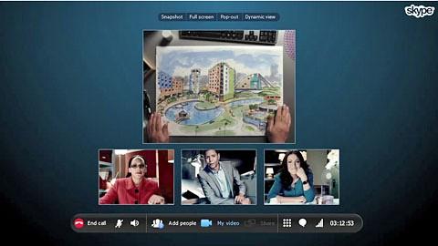 Geschäftliche Gruppenvideotelefonie per Skype - Herstellervideo