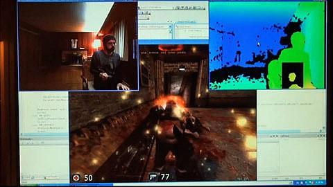 Kinect-Hack für PC-Shooter-Steuerung mit nur einer Hand - Youtube-Video von Maxkinect