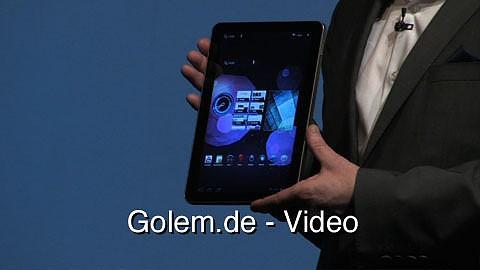 Samsung Galaxy Tab 2 - Pressekonferenz auf dem Mobile World Congress 2011