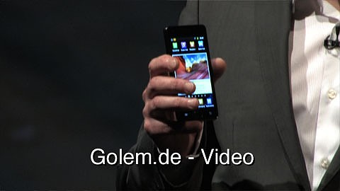 Samsung Galaxy S2 - Präsentation auf dem Mobile World Congress 2011