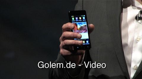 Samsung Galaxy S2 - Präsentation auf dem Mobile World Congress 2011