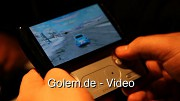 Sony Ericsson Xperia Play in Aktion auf dem Mobile World Congress 2011