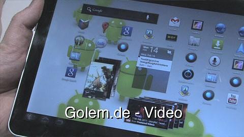 Samsung Galaxy Tab 10.1 - Ausprobiert auf dem Mobile World Congress 2011
