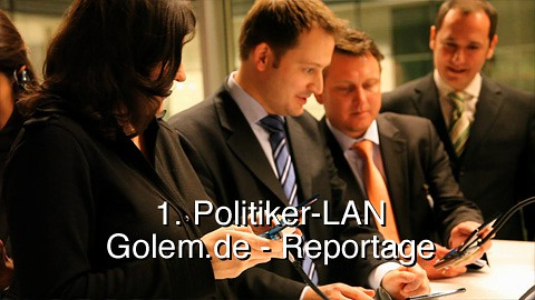 1. Politiker-LAN im Reichstag - Reportage