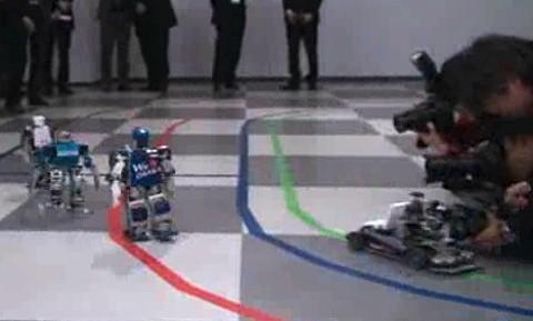 Roboter laufen Marathon
