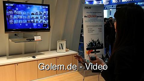 Asus zeigt Bewegungssteuerung Wavi Xtion auf der Cebit 2011