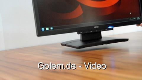 Fujitsu zeigt Prototyp für kabellosen Monitor auf der Cebit 2011