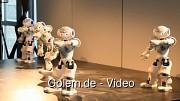 Intel zeigt Robotertanzgruppe mit Naos auf der Cebit 2011