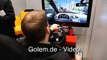 Drive Seat 500 ST in Aktion auf der Cebit 2011