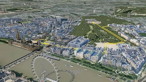 Google Earth - London in fein detailliertem 3D-Modell