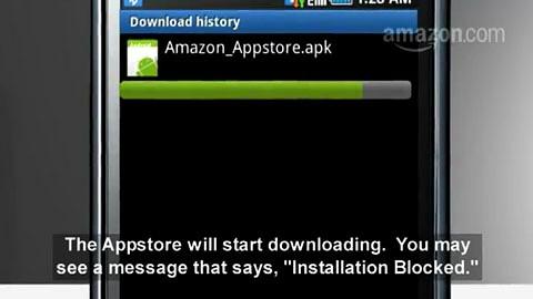 Amazons Installationsanleitung für den Appstore for Android