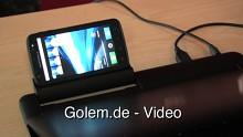 Motorola Atrix im Laptop Dock - Vorstellung auf der Droidcon 2011