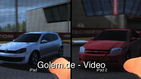 Real Racing HD 2 - grafische Unterschiede zwischen iPad und iPad 2