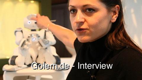 Aldebaran Nao - Interview mit Petra Koudelkova auf der Hannover Messe 2011