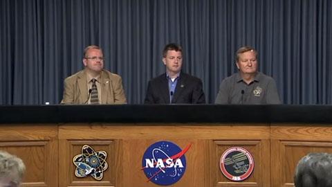 Nasa - Pressekonferenz zum verzögerten Start des Shuttles
