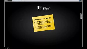 Ben Francis zeigt seine Webian Shell