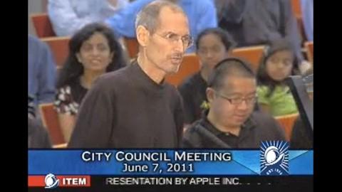 Steve Jobs präsentiert Apples neue Firmenzentrale