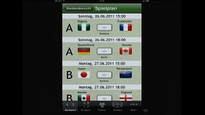 Fußball Kalender 2011 - kurze Demo der App