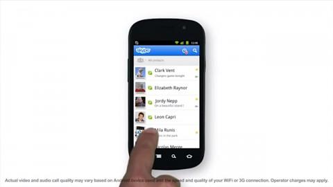 Skype für Android beherrscht Videotelefonie