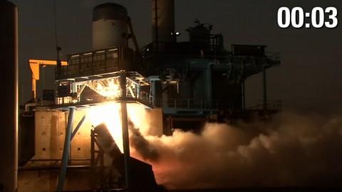 Space X - Testzündung der Trägerrakete Falcon 9