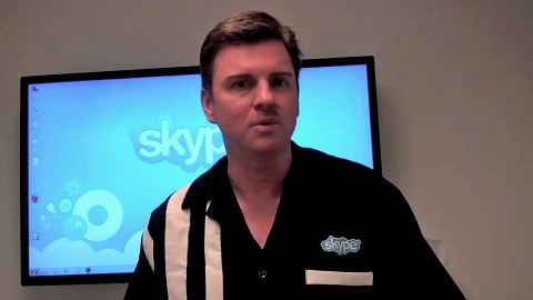 Skype-Chef Tony Bates über Facebook-Videotelefonate (Herstellervideo)